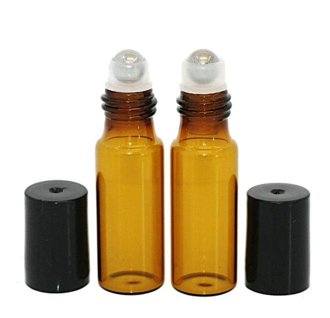 5ml roller bottle with stainless steel ball