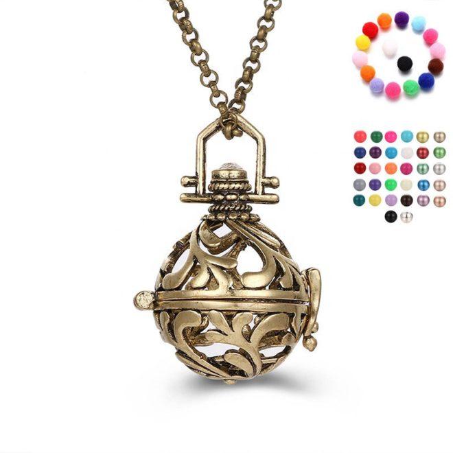 Bronze_essential_oil_pendant_necklace